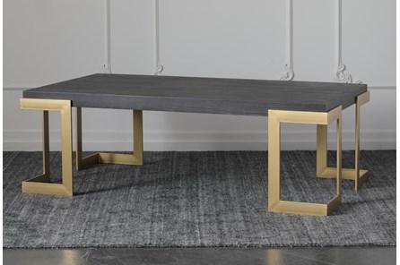 Black Oak + Gold Coffee Table - Main