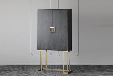 Black Oak + Gold Bar Cabinet - Main