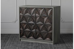 Antique Black + Grey 2 Door Cabinet