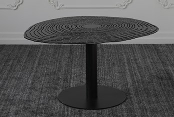 Black Perforated Top Coffee Table