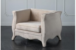 Cream Fully Upholstered Accent Chair