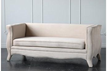 """Cream Fully Upholstered 72"""" Sofa"""