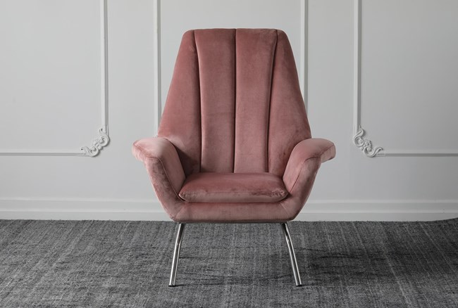 Pink Arm Chair - 360