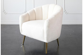 White Accent Chair With Gold Legs