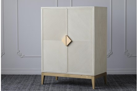 Cream + Gold Wine Cabinet - Main