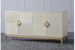 "Cream + Gold 4 Door 71"" Sideboard"