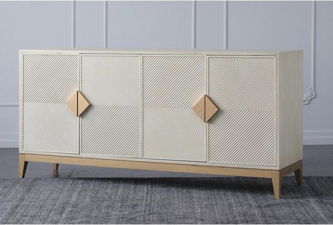 """Cream + Gold 4 Door 71"""" Sideboard - 360"""