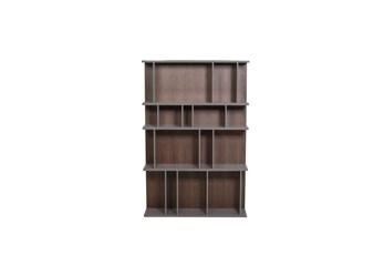 "Walnut + Stone High Gloss 71"" Bookcase"