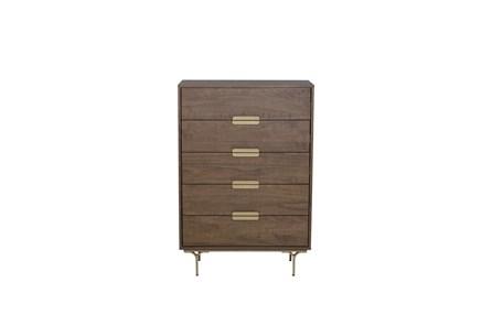 Walnut 5 Drawer Cabinet