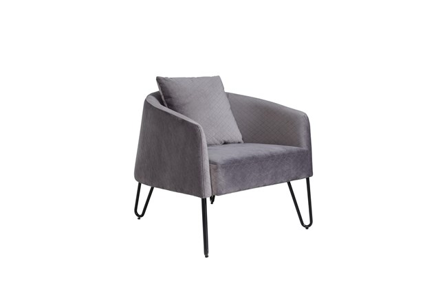 Grey Accent Chair - 360
