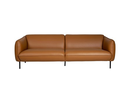 Camel Color Leather 3 Seater 92