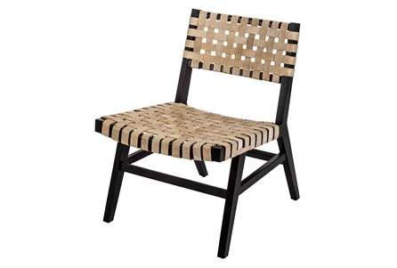 Wood Leather Chair - Main