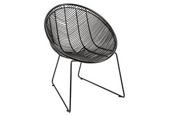 Black Wicker Lounge Chair