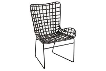 Black Wicker Arm Chair