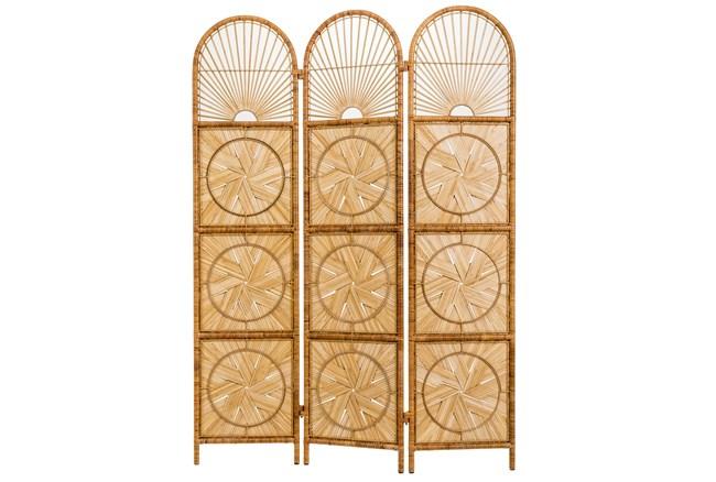 Natural Bamboo Woven 3 Panel Screens - 360