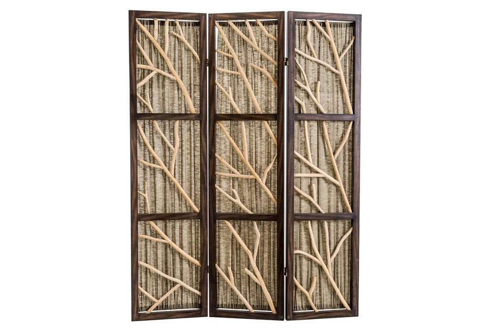 Black + Sage Driftwood 3 Panel Screens