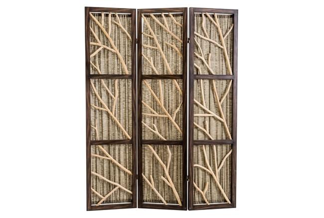 Black + Sage Driftwood 3 Panel Screens - 360
