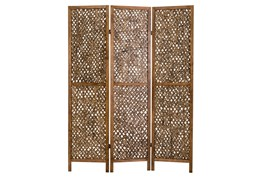 Pine + Bamboo 3 Panel Screens