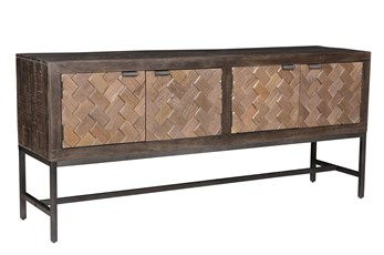 "Mink Brown 70"" Sofa Table"