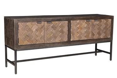 "Mink Brown 70"" Sofa Table"