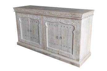 Grey 4 Door Cabinet