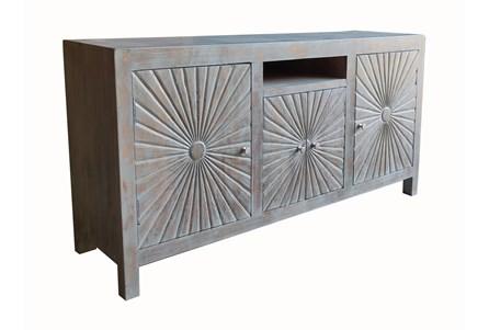 Grey 4 Door Cabinet - Main