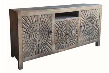 Dark Brown 3 Cabinet