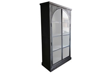 BLACK 2 DOOR CABINET