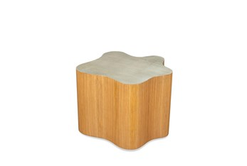 Oak + Taupe Coffee Table