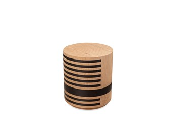 Light Wood + Black Accent Table