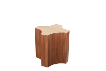 Spade Walnut Accent Table