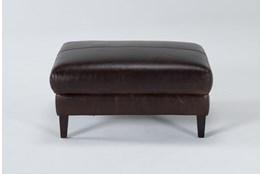 Gigi II Leather Ottoman