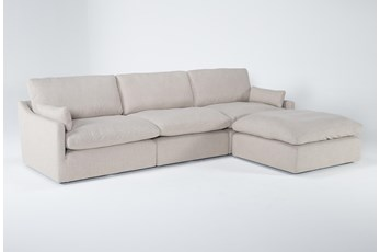 "Jil 3 Piece 131"" Sofa With Ottoman"