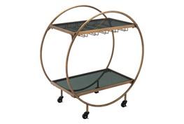 Gold And Black Circle Bar Cart