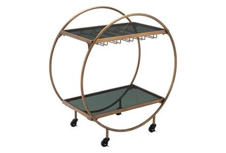 Gold And Black Circle Bar Cart - Main