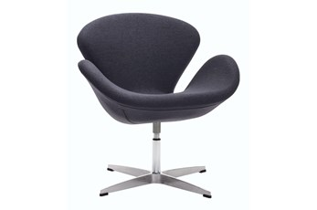Grey Tulip Swivel Chair