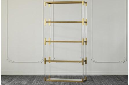 Lucite + Matte Brass Tall 71