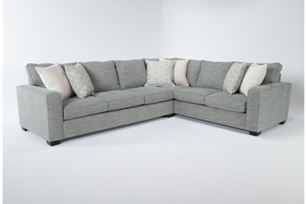 """Oslo 2 Piece 100"""" Sectional With Left Arm Facing Sofa"""