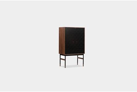 Walnut + Black Bar Cabinet - Main