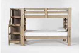 Westbridge Twin Over Twin Bunk Bed With Staircase