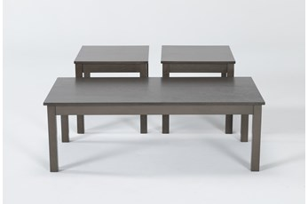 Pierce Grey 3 In 1 Pack Tables