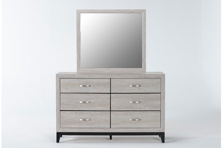 Finley White Dresser/Mirror - Main
