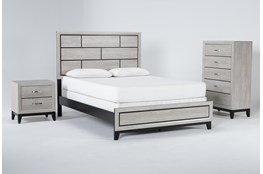 Finley White California King 3 Piece Bedroom Set