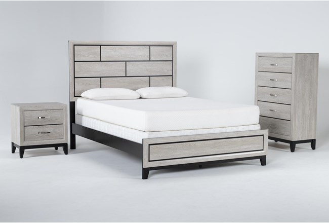 Finley White California King 3 Piece Bedroom Set - 360