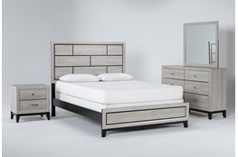Finley White Eastern King 4 Piece Bedroom Set