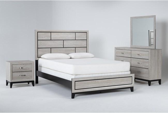 Finley White Eastern King 4 Piece Bedroom Set - 360
