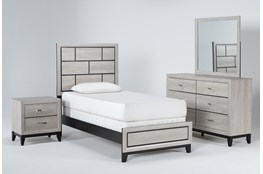 Finley White Twin 4 Piece Bedroom Set