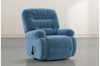 Decker III Navy Swivel Glider Recliner