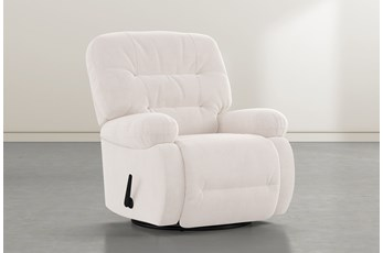 Decker III Ivory Swivel Glider Recliner