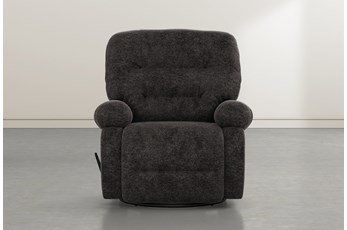 Decker III Midnight Swivel Glider Recliner
